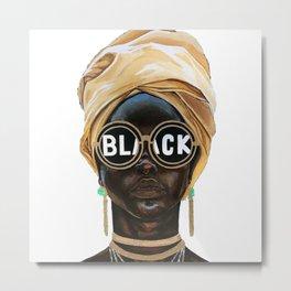 Black Woman Metal Print