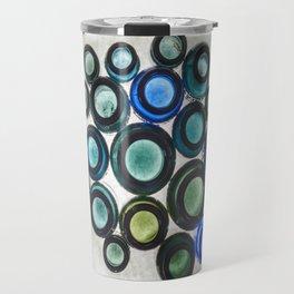 Bromo Seltzer Vintage Glass Bottles Top - Abstract Travel Mug