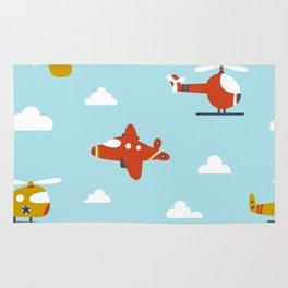 Children's plane Rug