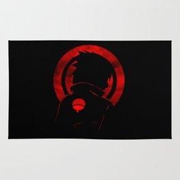 Red Uchiha Sasuke Rug