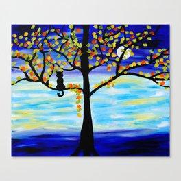 Moonlight Kitten Canvas Print