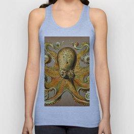 Vintage Golden Octopus Unisex Tank Top
