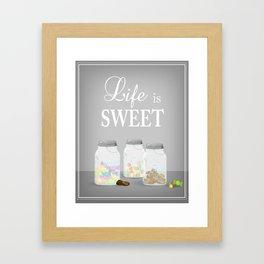 Mason Jar: Life is Sweet Framed Art Print