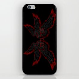 Archangel Lucifer with Wings Black iPhone Skin