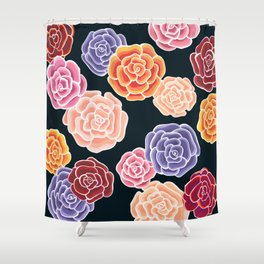 rosy days Shower Curtain