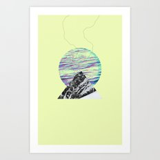 Streaming Art Print