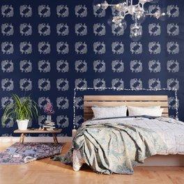 Indigo Navy Blue Koi Wallpaper