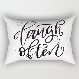 Laugh Often Rectangular Pillow