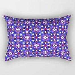 Cobalt Intersect Rectangular Pillow