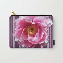 PINK PEONY GREY-PURPLE PATTERN Carry-All Pouch