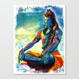 Shiva In meditation Canvas Print