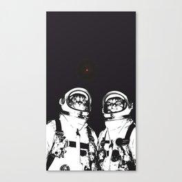 astronaut cats Canvas Print