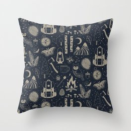 Into the Woods: Stargazing Throw Pillow