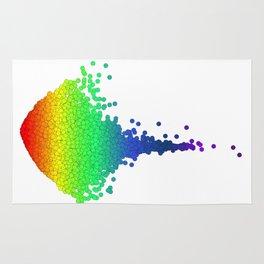 Rainbow Volcano Coral Genes Rug
