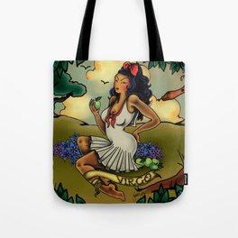 Tattoo Virgo Tote Bag