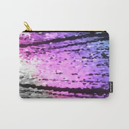 Pink Lavender Periwinkle Crystal Texture Carry-All Pouch
