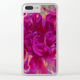 """Extreme Dahlia """"Janny P"""" Clear iPhone Case"""
