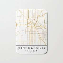 MINNEAPOLIS MINNESOTA CITY STREET MAP ART Bath Mat