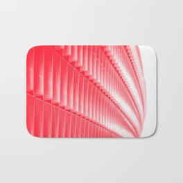 Red and white structure background design Bath Mat
