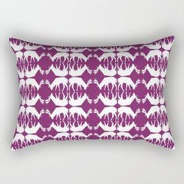 Oh, deer! in violet purple Rectangular Pillow