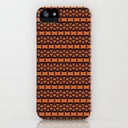 Dividers 02 in Orange Brown over Black iPhone Case