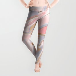 Marble and Gold 005 Leggings