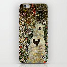 """Gustav Klimt """"Garden Path with Chickens"""" iPhone Skin"""
