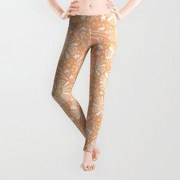Orange Summer Blooms Leggings