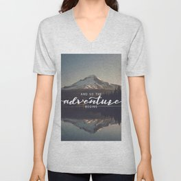 Trillium Adventure Begins - Nature Photography Unisex V-Neck