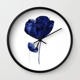 Blue & White Flower - 2 Wall Clock