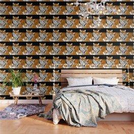 Tiger cub and mom (cheek-bump) Wallpaper