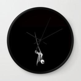Monochrome Gemsbok Portrait Wall Clock