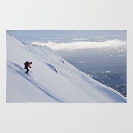 Skiers at Hatcher Pass (2) Rug