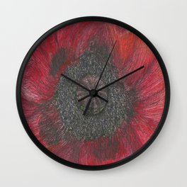 Heart of the Poppy by Candy Medusa Wall Clock