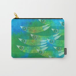 Green dotted ffish Carry-All Pouch