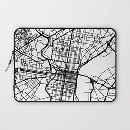 PHILADELPHIA PENNSYLVANIA BLACK CITY STREET MAP ART Laptop Sleeve