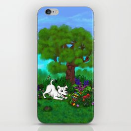Easter - Spring-awakening - Puppy Capo and Butterfly iPhone Skin