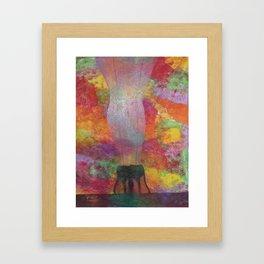 Feelings in the spring Framed Art Print