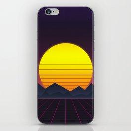 Vaporwave\\Mountain iPhone Skin