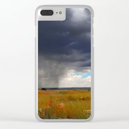 The Unexpected Poppy Field Storm of Spain Clear iPhone Case