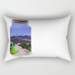 Bottle camping world Rectangular Pillow