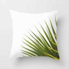 Tropical Palm Green Plant Leaf Minimalist Modern Photo Throw Pillow