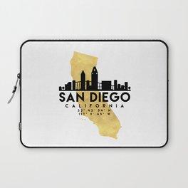 SAN DIEGO CALIFORNIA SILHOUETTE SKYLINE MAP ART Laptop Sleeve