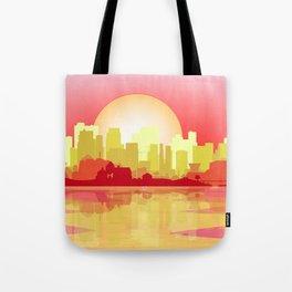 City At The Dusk Tote Bag