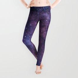 Purple Galaxy Star Travel Leggings