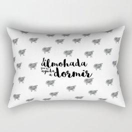 La almohada que te ayuda a dormir. Ovejas maxi Rectangular Pillow