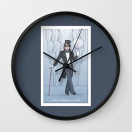 Bucky New Year 2018 Wall Clock