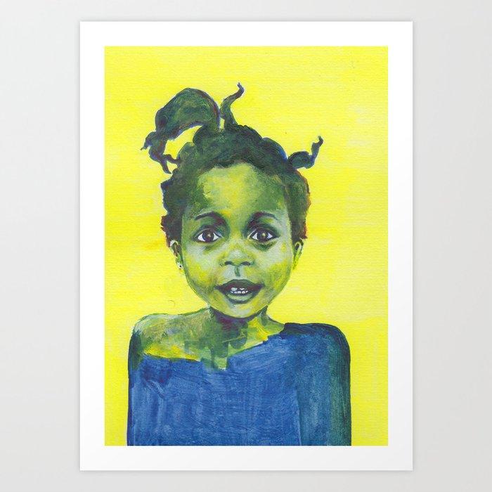 Les petites filles I.17 Art Print