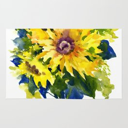 Colors of Summer, Sunflowers, Country style french country design Rug