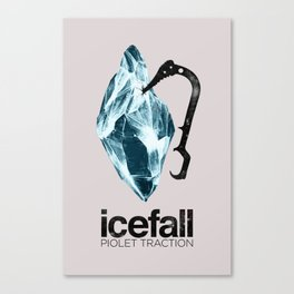 ICEFALL -PIOLET TRACTION- Canvas Print